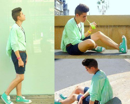 Pastel-Sneakers-Ensemble-500x400 28 Best Ideas on How to Wear Converse Shoes for Guys