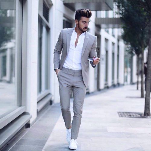 Semi-Formal-Look-with-Chuck-Taylors-500x500 28 Best Ideas on How to Wear Converse Shoes for Guys