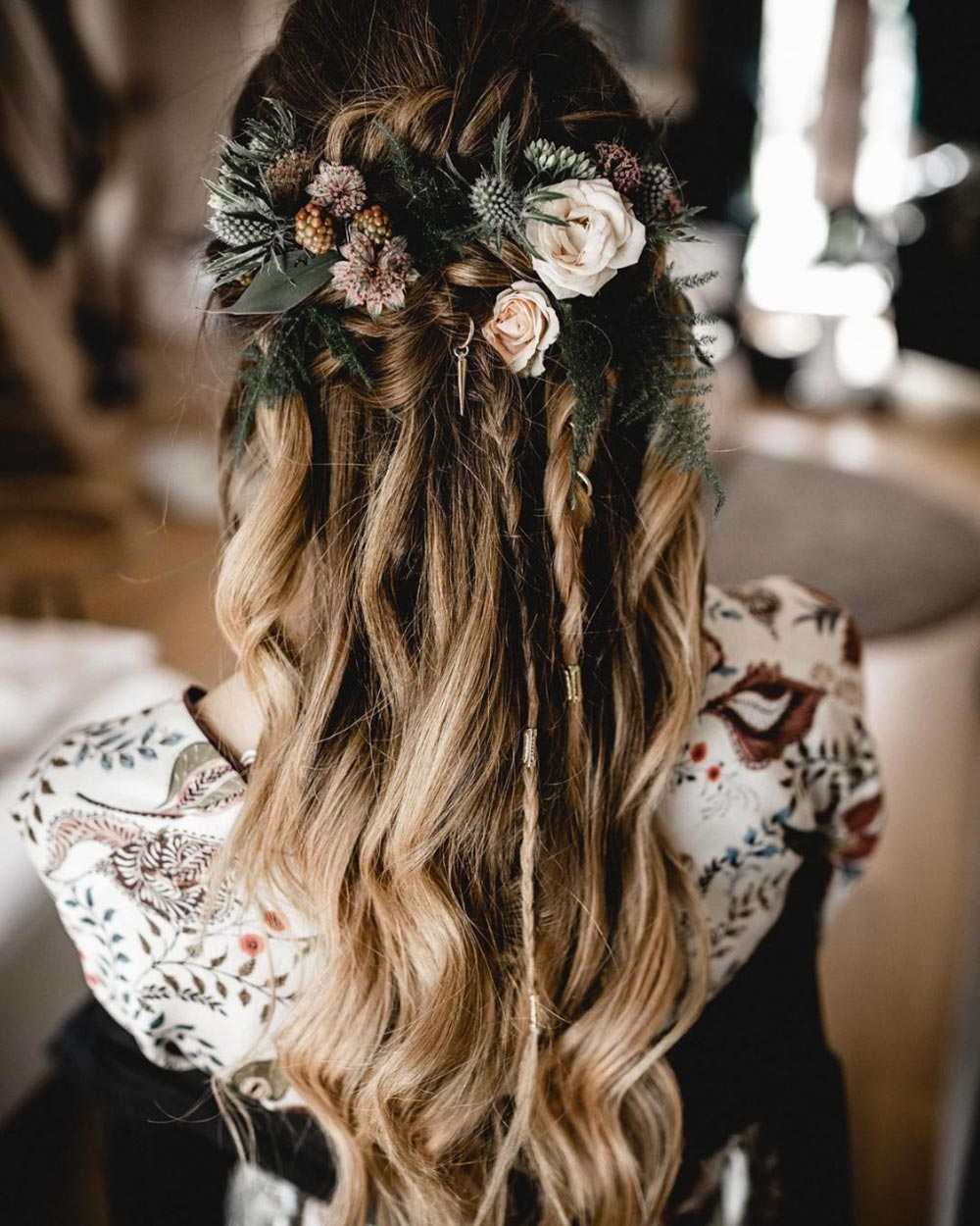 wedding hairstyle with braids