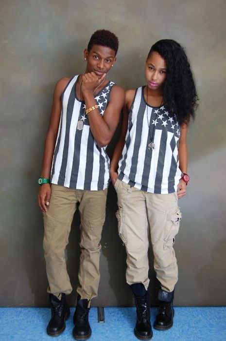 dd805f42a8ec45b6f0caaf462e2255a3 18 Cute Matching Outfits For Black Couples