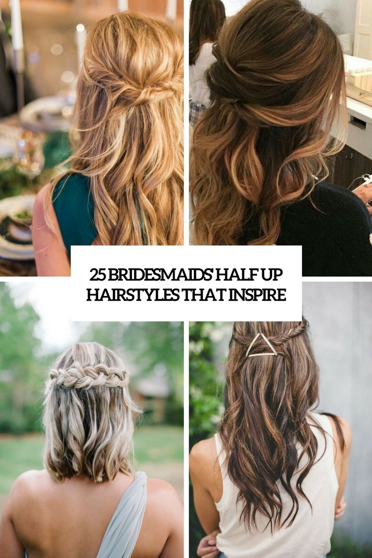 bridesmaids' half up hairstyles that inspire cover