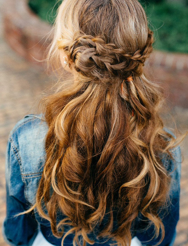 wedding hairstyle for long hair braided