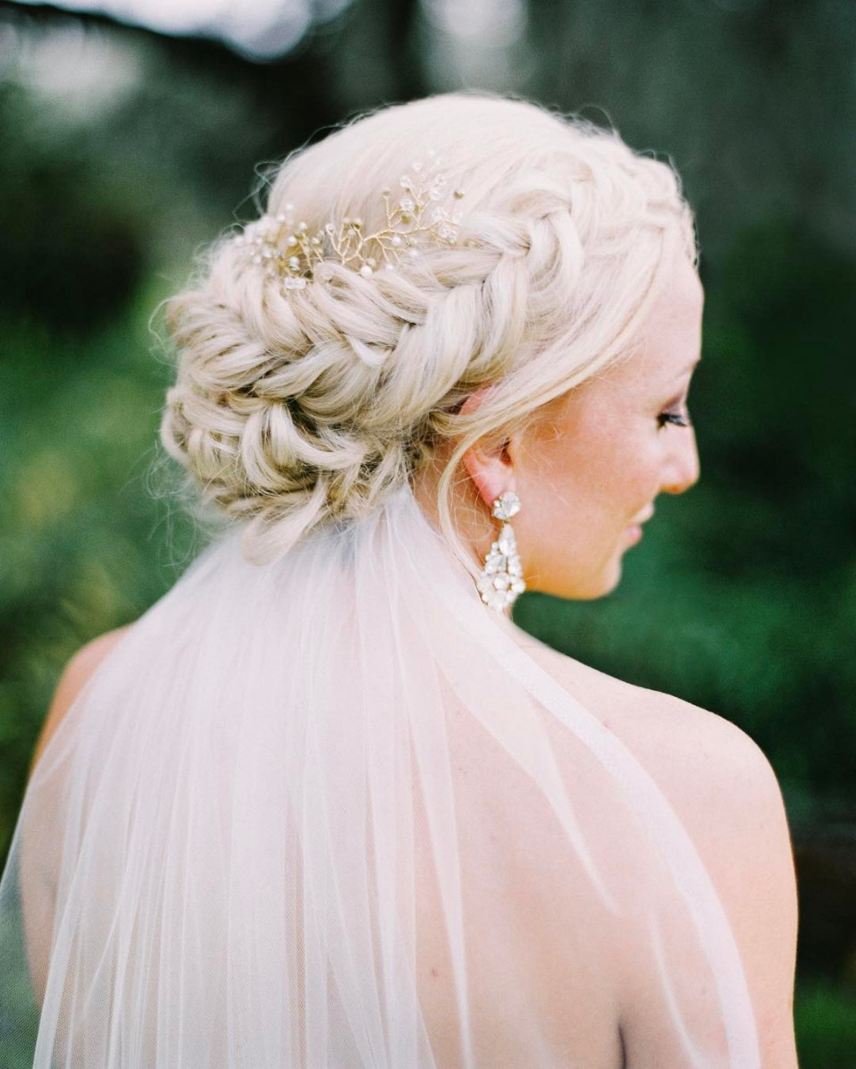 fishtail braid bridal hair