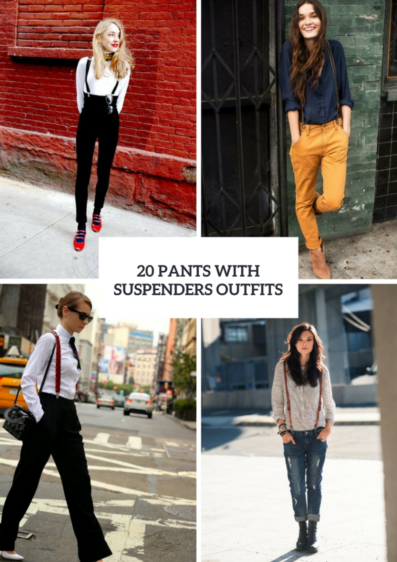 Ideas To Wear Pants With Suspenders