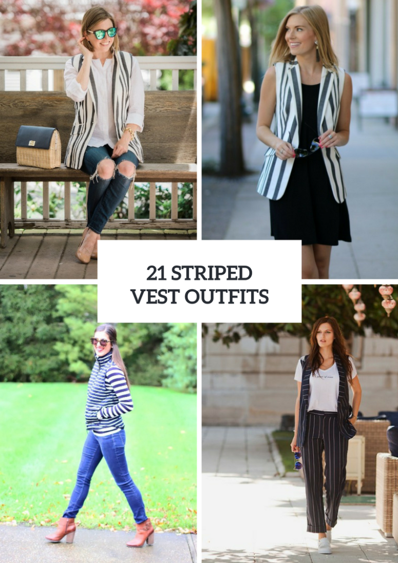 Cool Outfits With Striped Vests