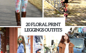 Wonderful Outfits With Floral Leggings
