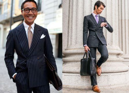 How-to-Pick-a-Tie-with-a-DB-Suit-500x360 25 Ideas on How to Wear Double-Breasted Suits for Men