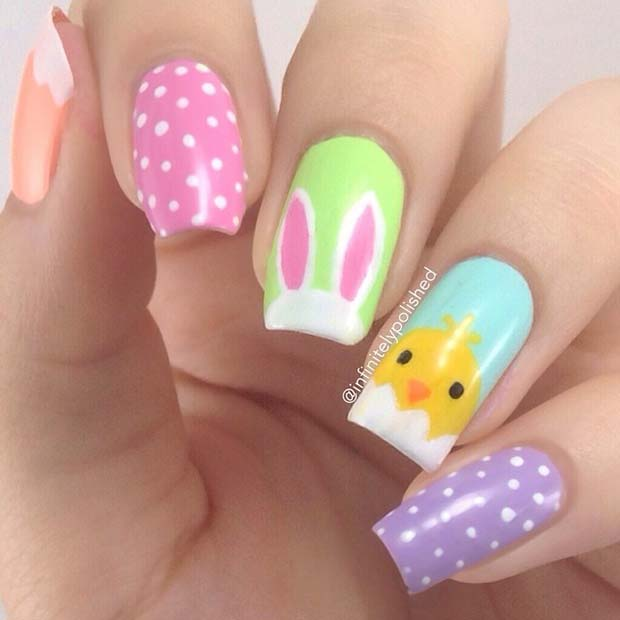 Easter-Chick-and-Bunny-Nails