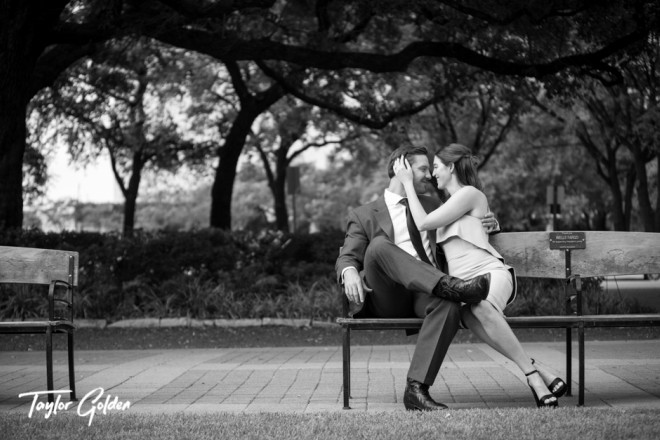 Black And White Engagement Photo Taylor Golden