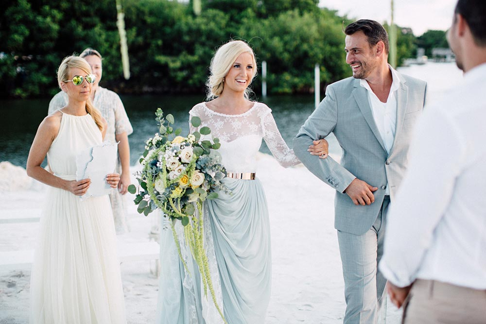 Sandy Toes Elopement in the Florida Keys #beachwedding #barefootbride #elopementdestination #floridakeyswedding
