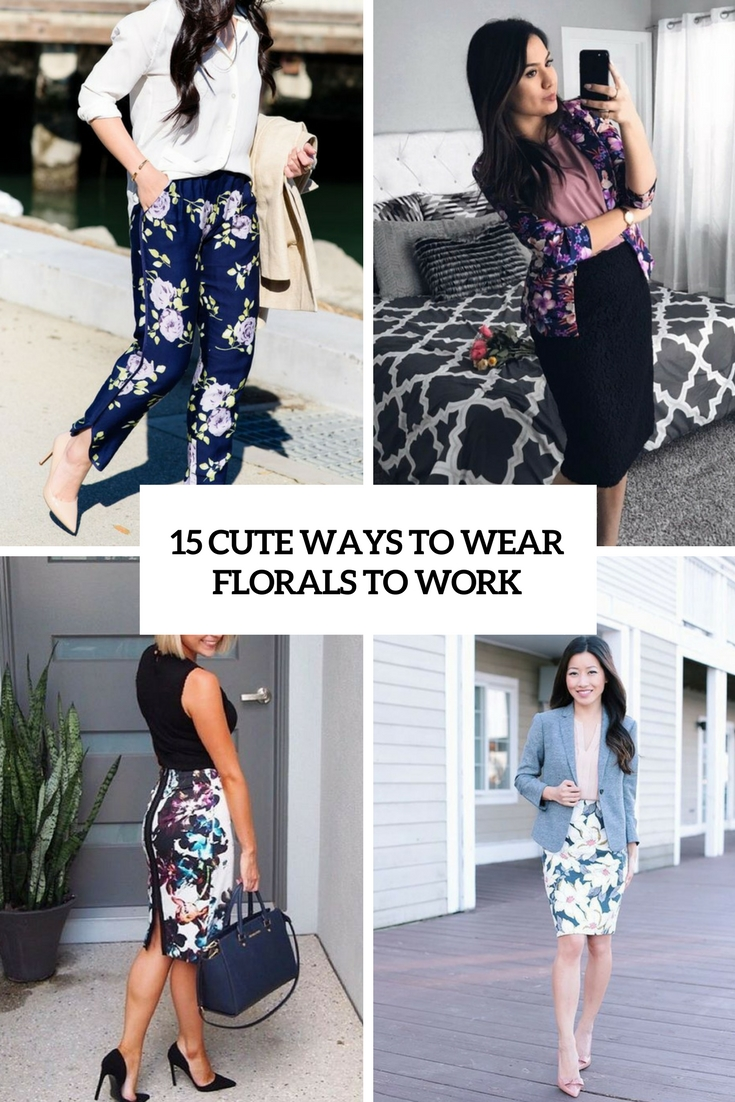 cute ways to wear florals to work cover