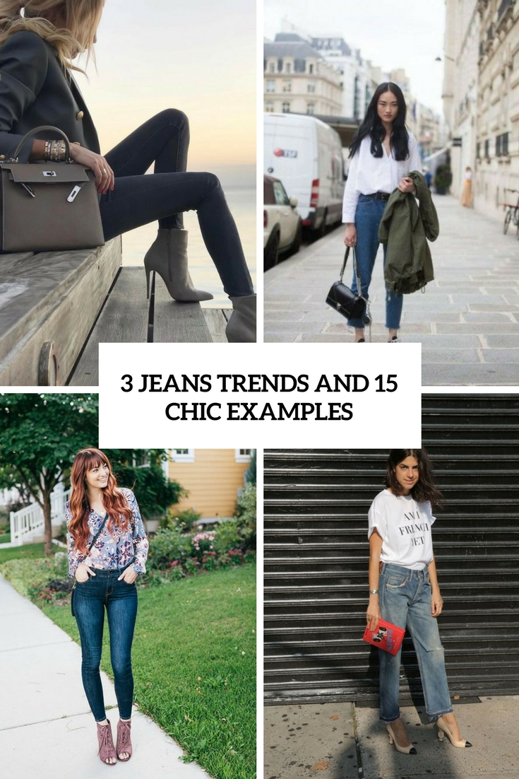 3 jeans trends and 15 chic examples cover