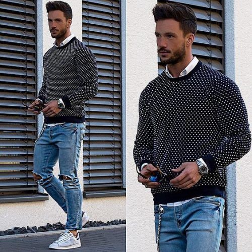 Sweaters-with-Chuck-Taylors-500x500 28 Best Ideas on How to Wear Converse Shoes for Guys