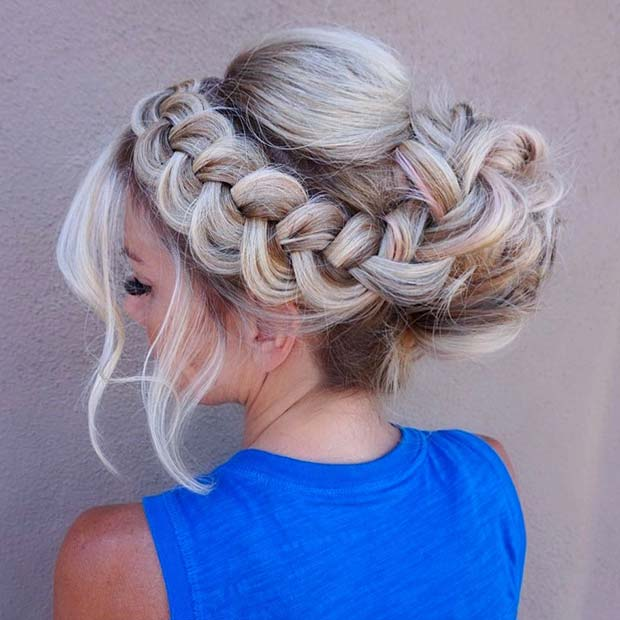 Formal-Bun-with-Loose-Braid