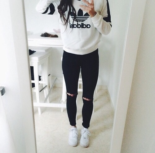 tumblr_o7qe3zptod1tut9z3o1_500 45+ Most Popular Adidas Outfits on Tumblr for Girls