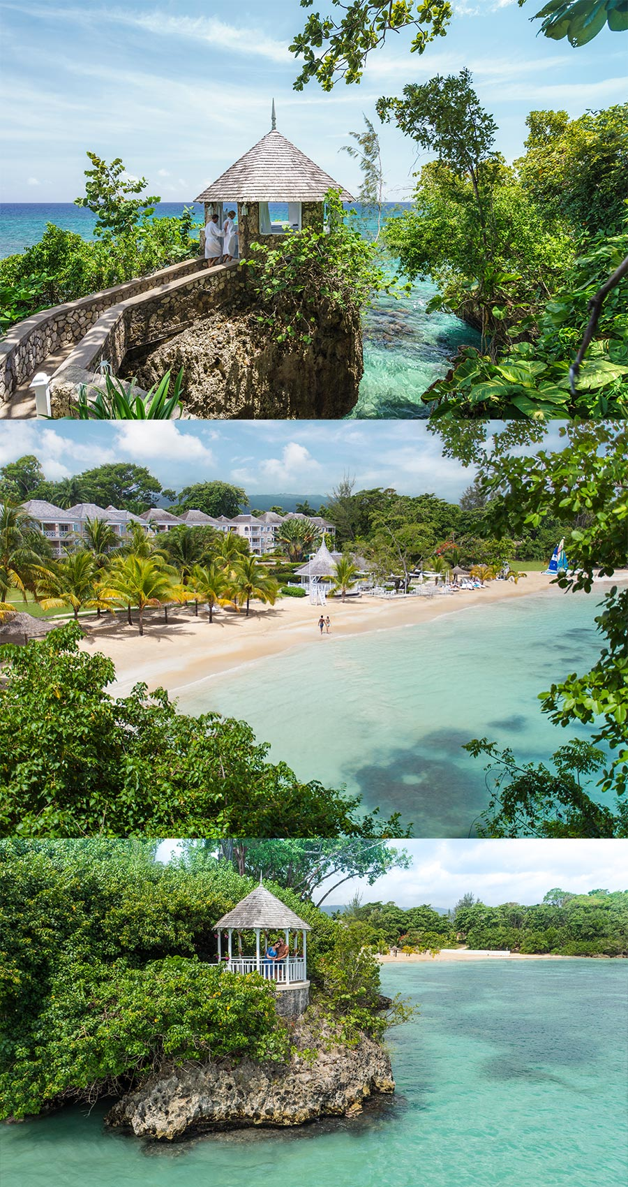 apple vacations jamaica destination wedding couples resorts san souci ocho rios beach front wedding