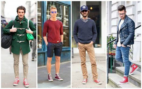 Red-Converse-for-Street-Style-500x313 28 Best Ideas on How to Wear Converse Shoes for Guys