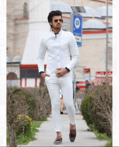 All-White-Formal-Look-404x500 Guys Formal Style - 19 Best Formal Outfit Ideas for Men