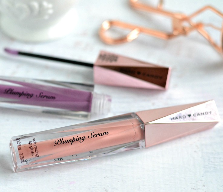 Hard Candy Plumping Serum Volumizing Lip Glosses - First Kiss and Dirty Mind