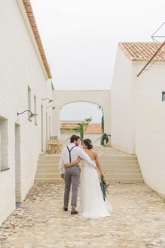 This wedding shoot took place in an ancient farming village in Portugal and as filled with its charm