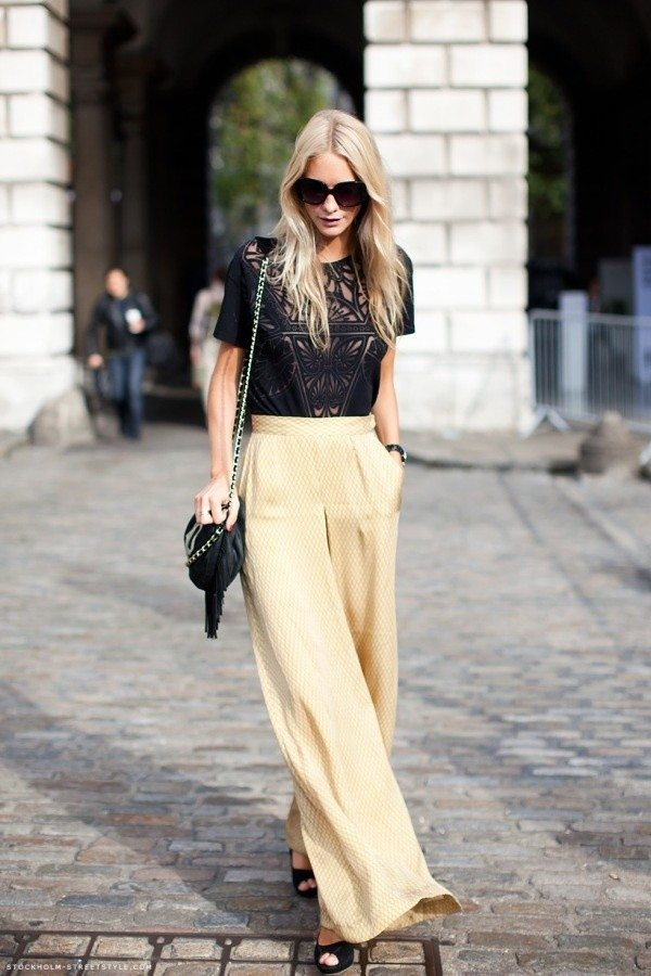 2014-Palazzo-Pants-Fashion 28 Modern ways to Wear Palazzo Pants with other Outfits