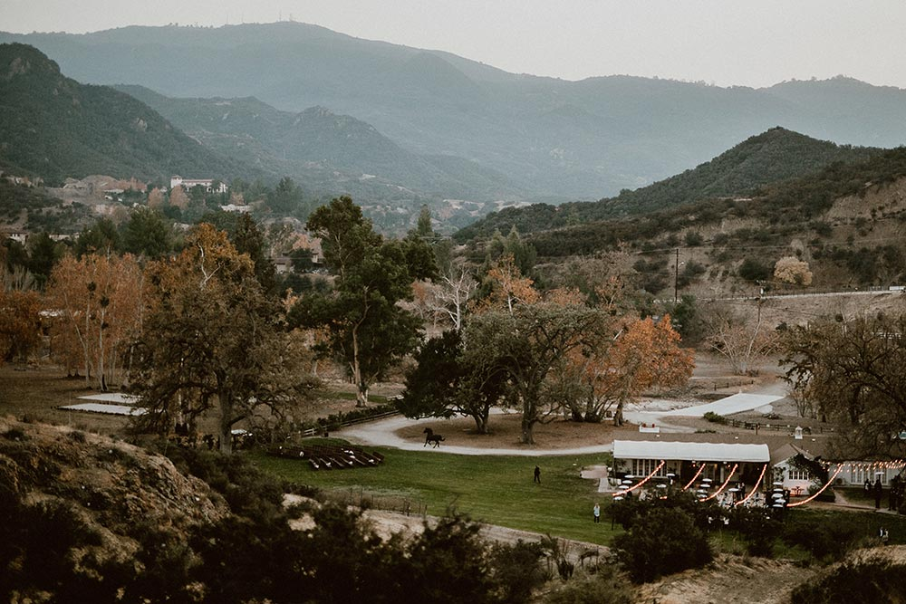 triunfo creek vineyard wedding view