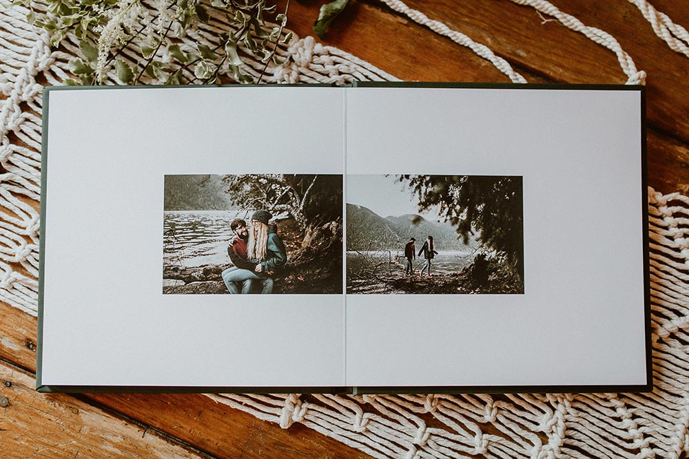 adventurous couple wedding guestbook