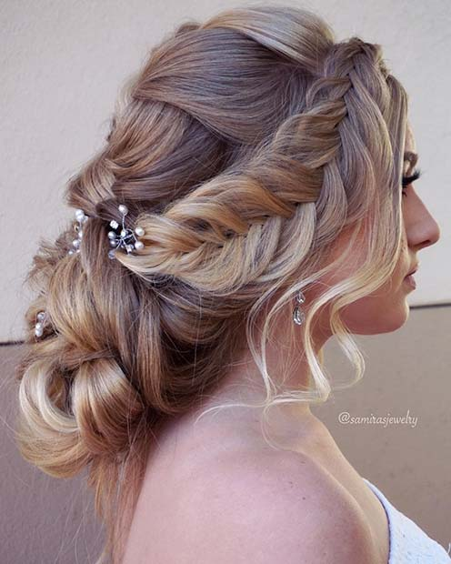 Stunning Accessorized Updo for Prom
