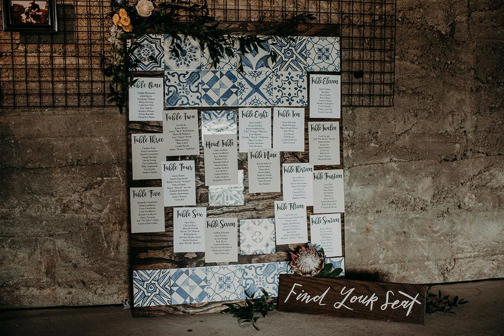 mediterranean inspired wedding seating chart