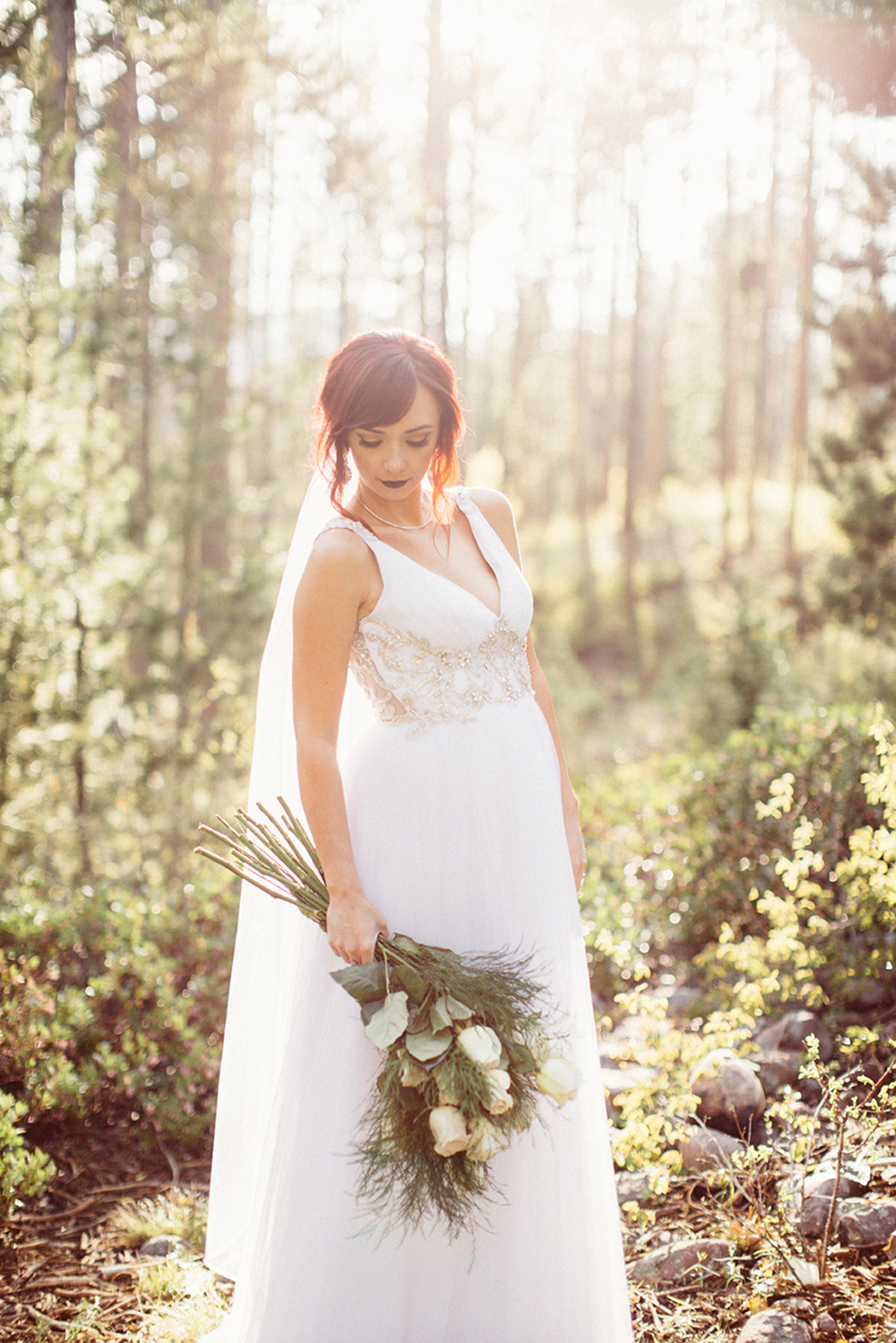 lace boho wedding gown