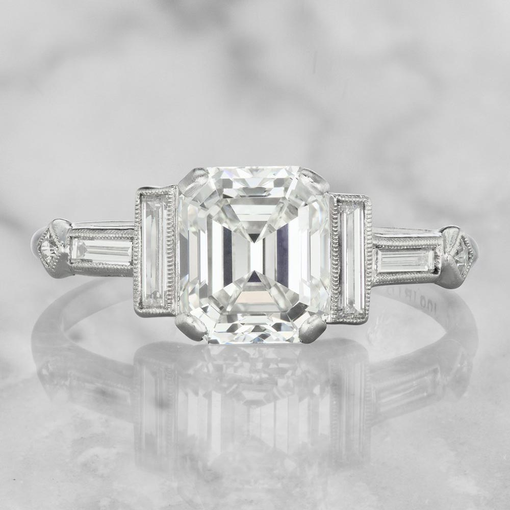 classic emerald cut engagement ring