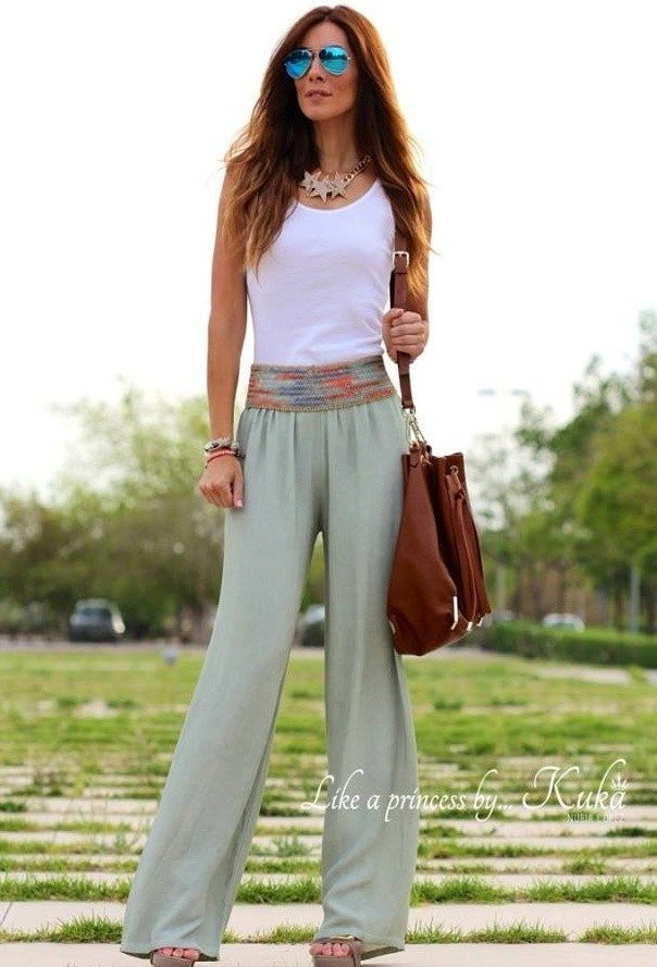 petite-palazzo-pants 28 Modern ways to Wear Palazzo Pants with other Outfits