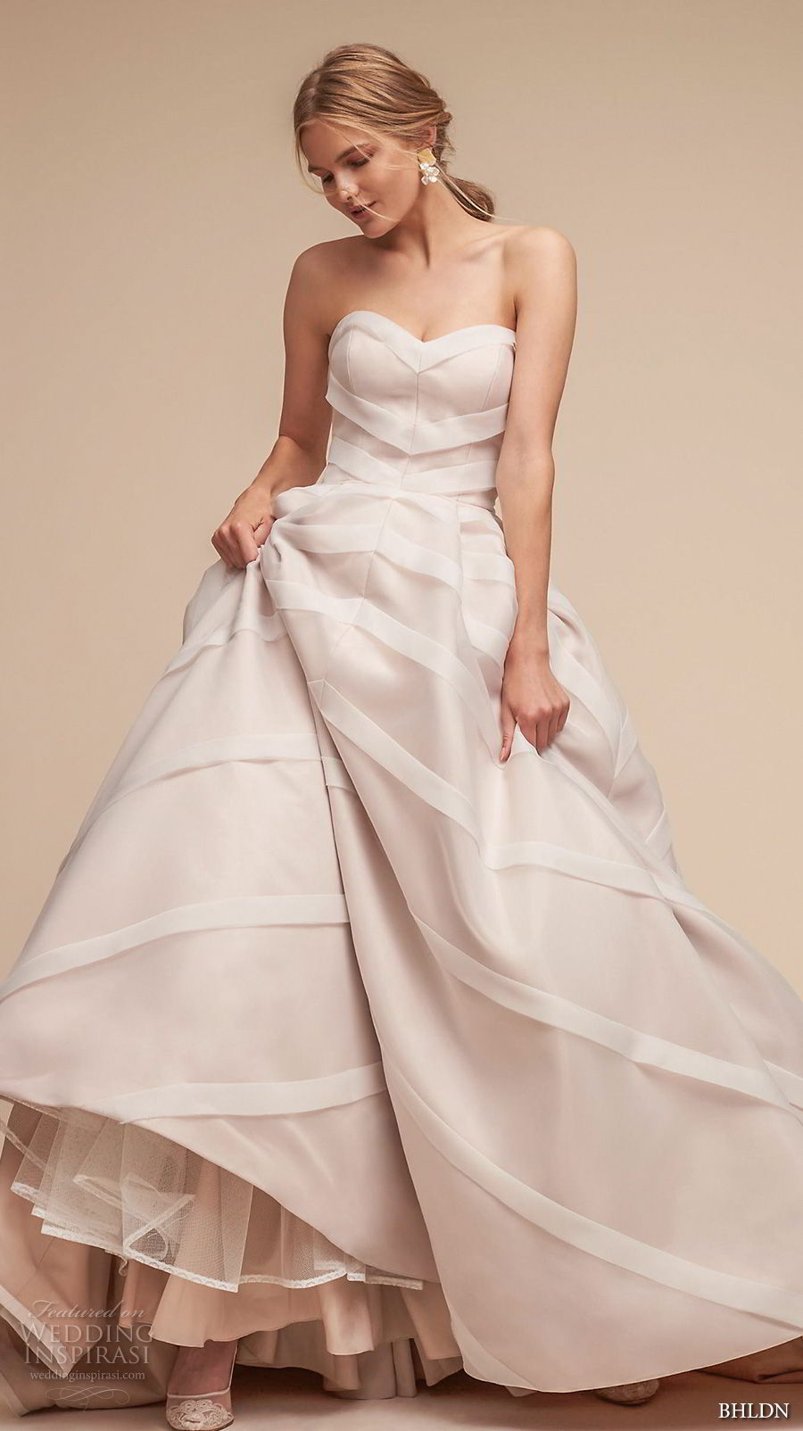 bhldn 2018 whispers bridal strapless sweetheart neckline princess ball gown a line wedding dress chapel train (13) mv