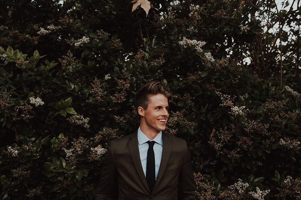 olive green groom suit
