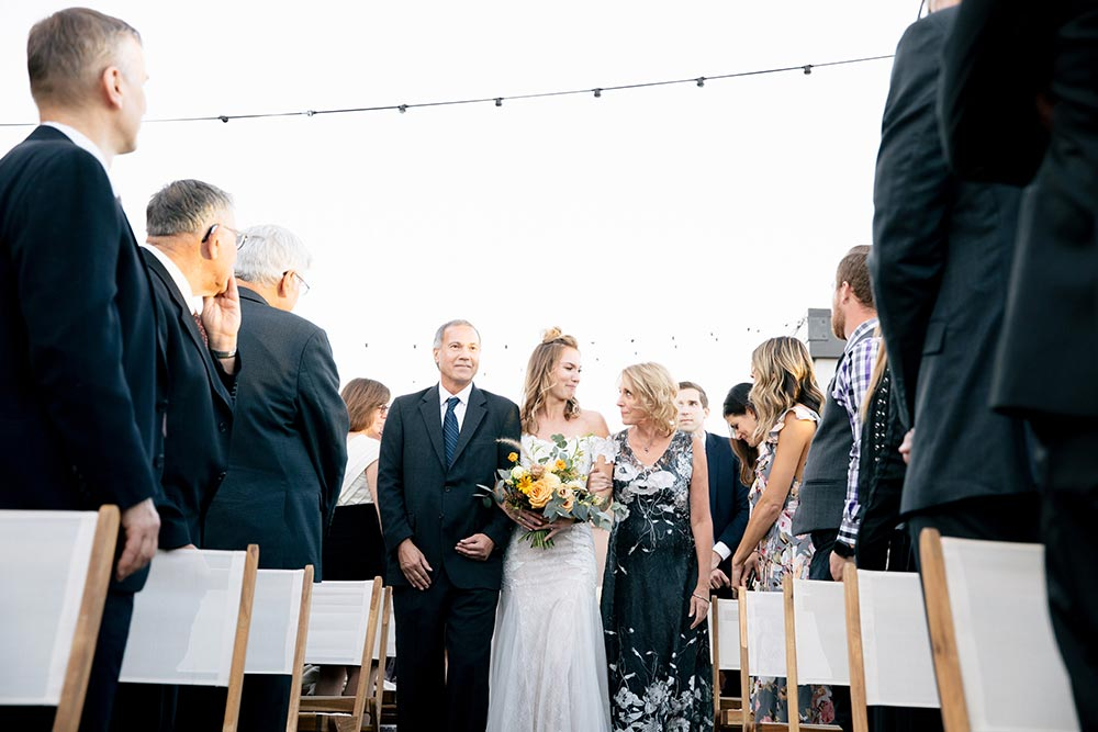 california rooftop wedding ceremony