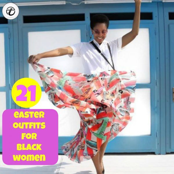 Easter-Outfit-For-Black-Women22-600x600 21 Trendy Easter Outfits For Black Women 2018