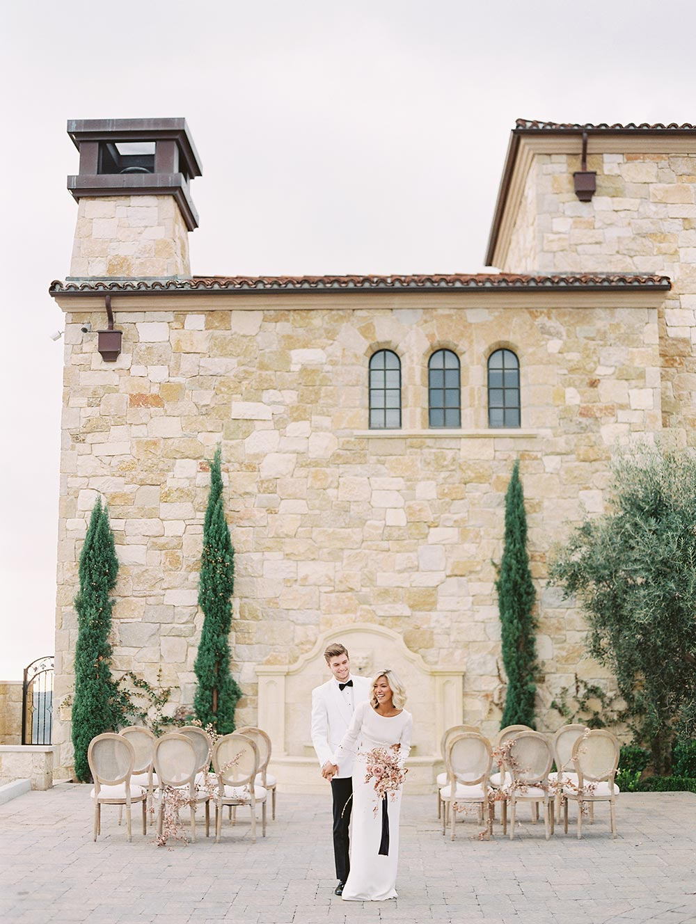 organic wedding ceremony with european vibes
