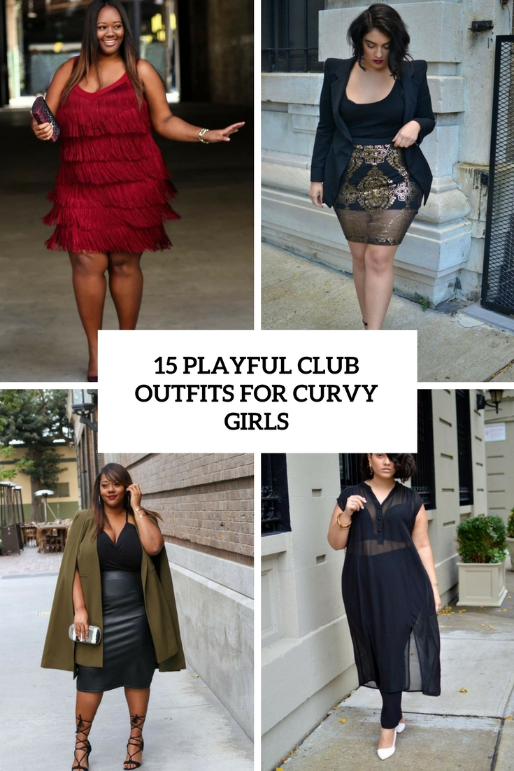 playful club outfits for curvy girls cover