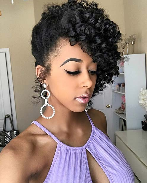 Stunning Updo for Curly Hair