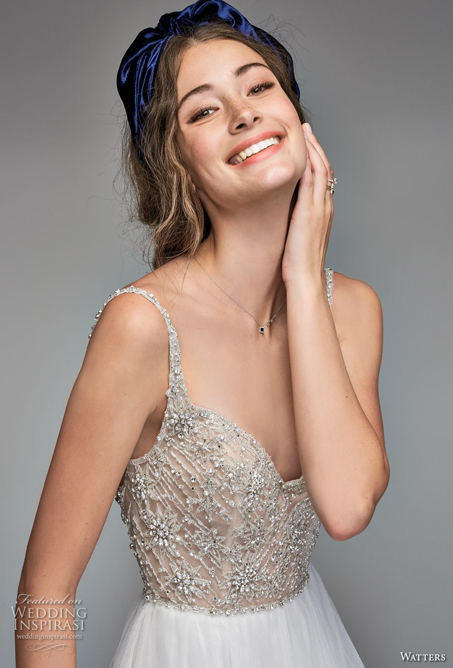 willow by watters spring 2018 thin straps sweetheart neckline heavily embellished bodice glamorous romantic a line wedding dress v back sweep train (8) zv