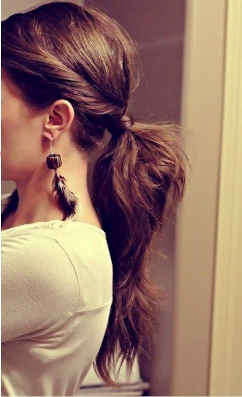a twisted thick ponytail will fit not only casual days but also work days