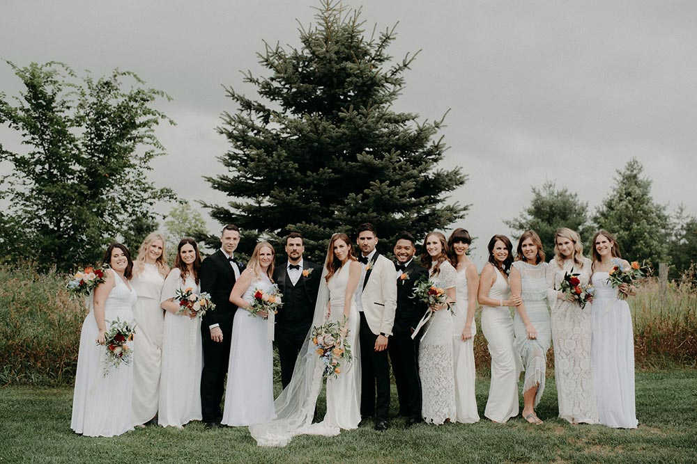 boho bridal party fashion