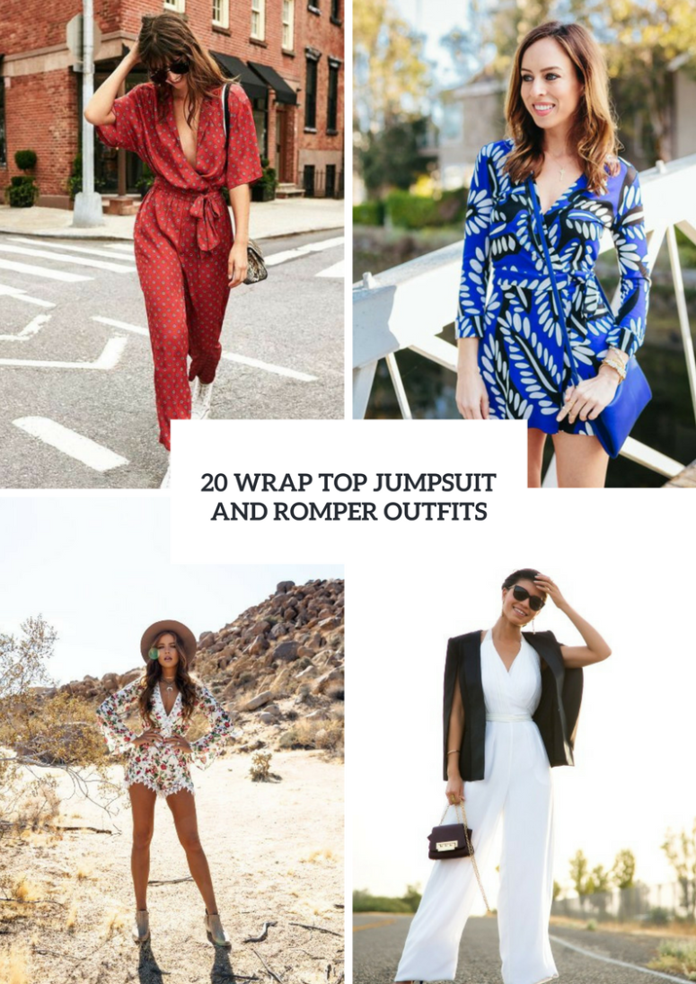 Outfits With Wrap Top Jumpsuits And Rompers
