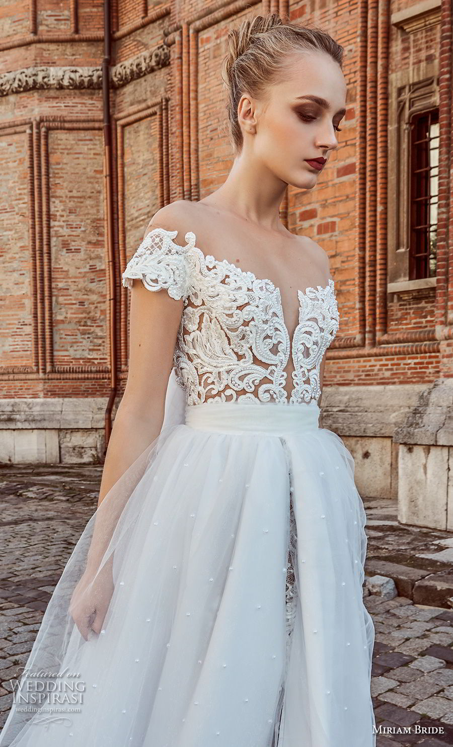 miriams bride 2018 bridal off the shoulder deep plunging sweetheart neckline heavily embellished bodice princess romantic ball gown a line weding dress open back chapel train (7) zv