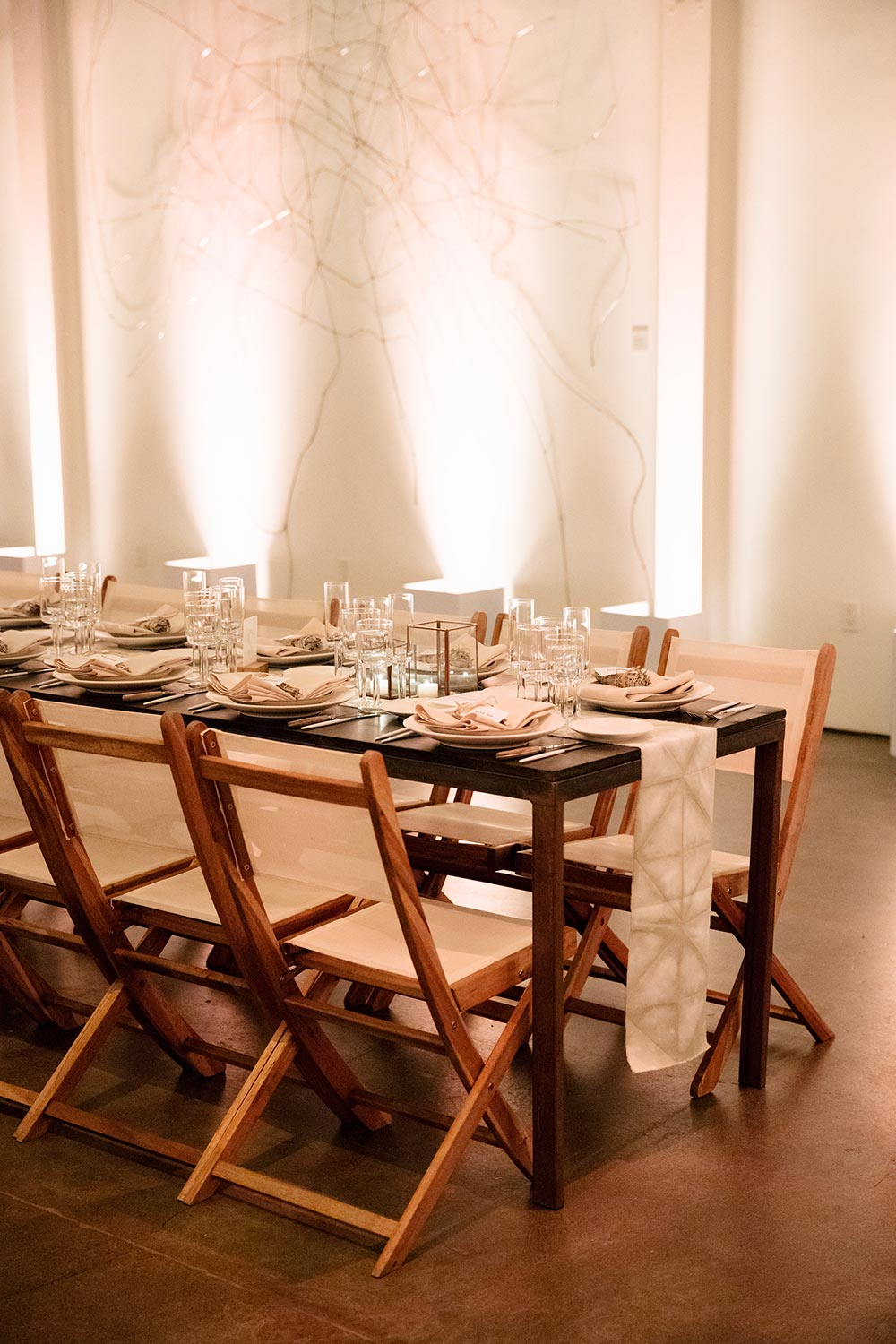 director chairs wedding reception tablescape