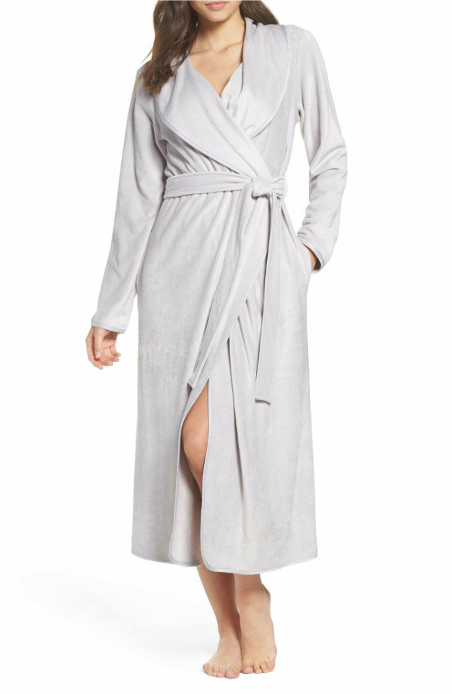 Luxe Shawl Gray Robe