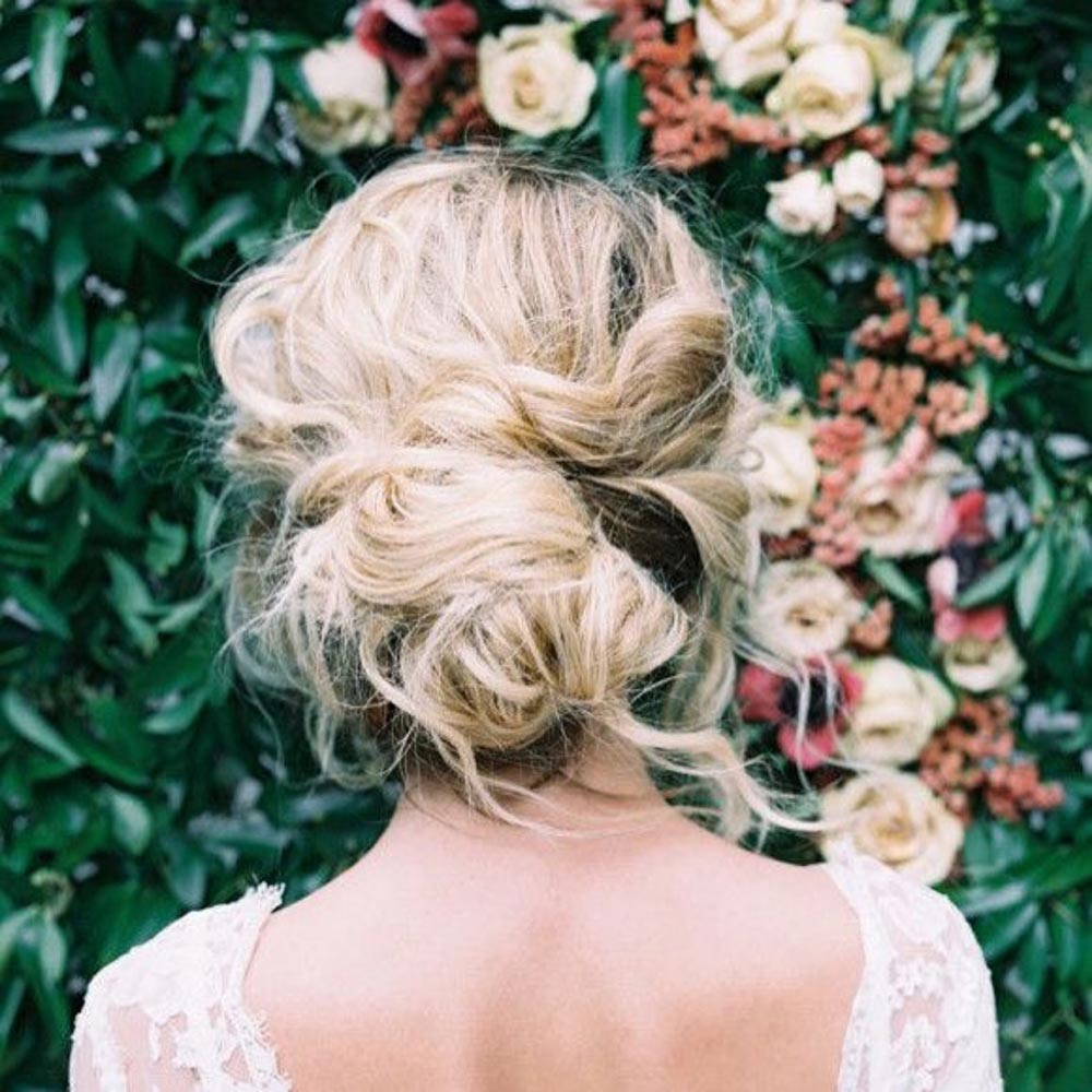 loose tousled wedding updo
