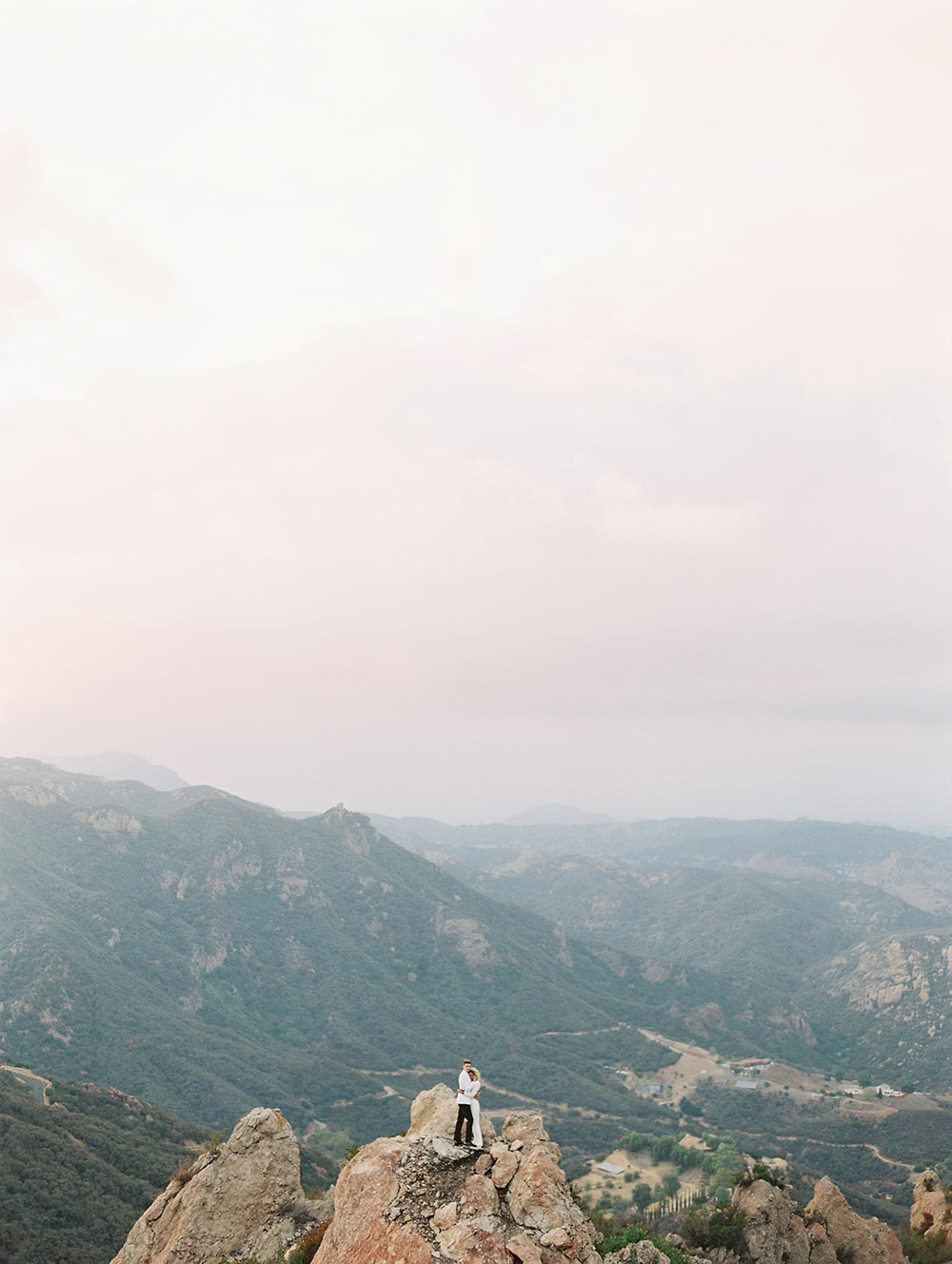 malibu wedding bird's eye view