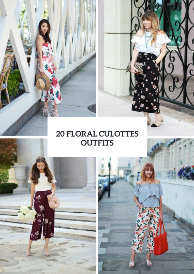 Charming Outfits With Floral Culottes