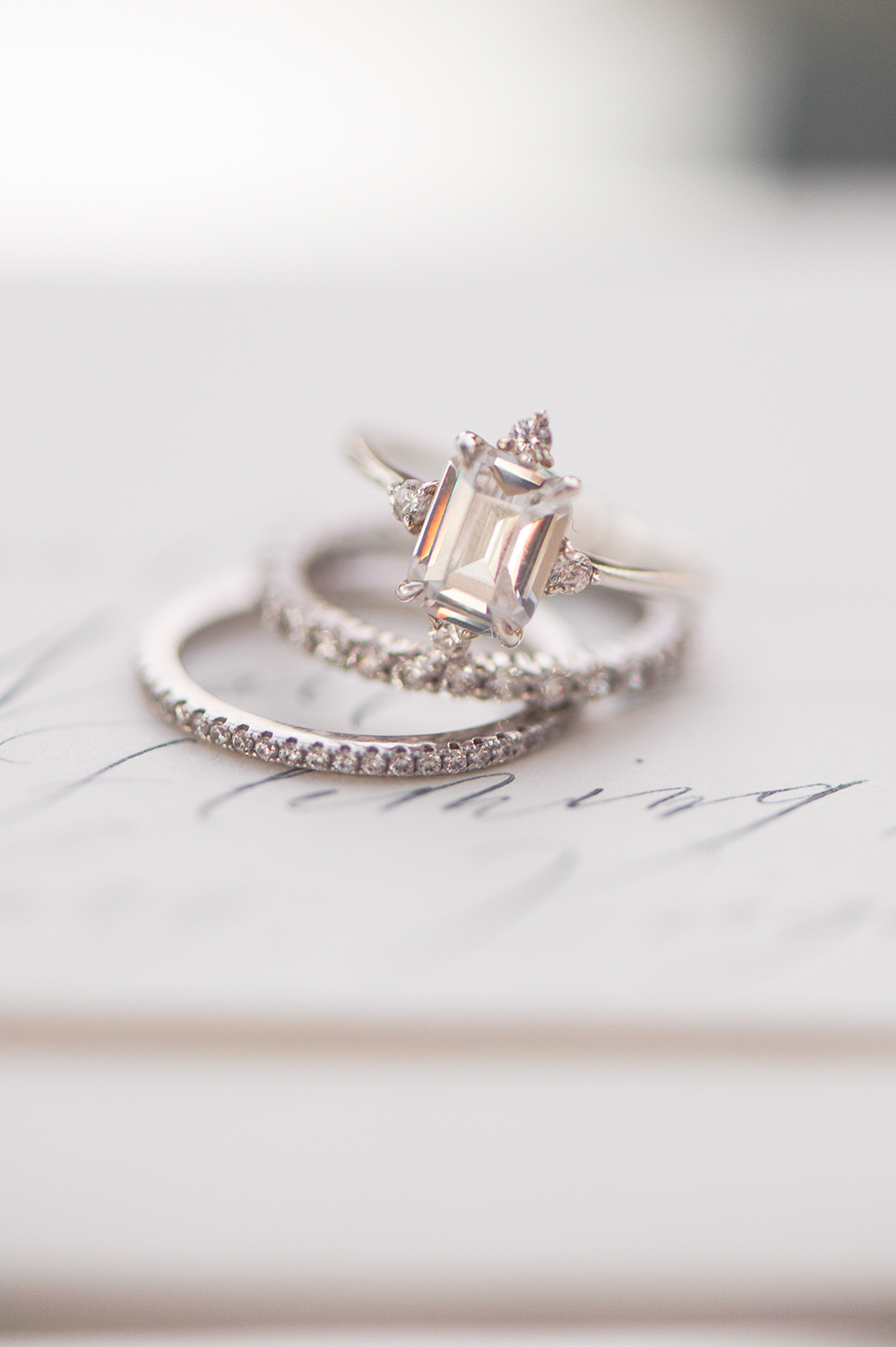 elegant emerald cut engagement ring
